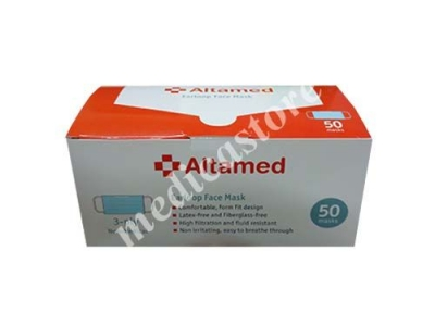 Altamed 3 Ply Earloop Face Mask 50's