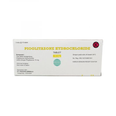 PIOGLITAZONE 15MG TABLET 30 S