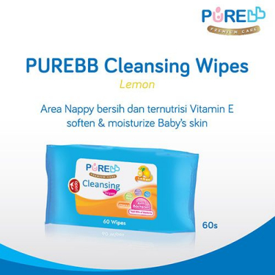 PUREBB CL WIPES 60 S TEA OLI BOGOF