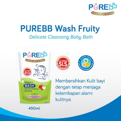 PUREBB WASH FRUITY REFILL 450 ML