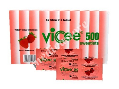 VICEE STRAWBERRY TABLET 100 S
