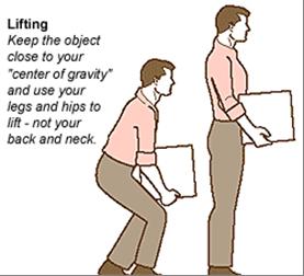 cara mengangkat benda berat yang benar