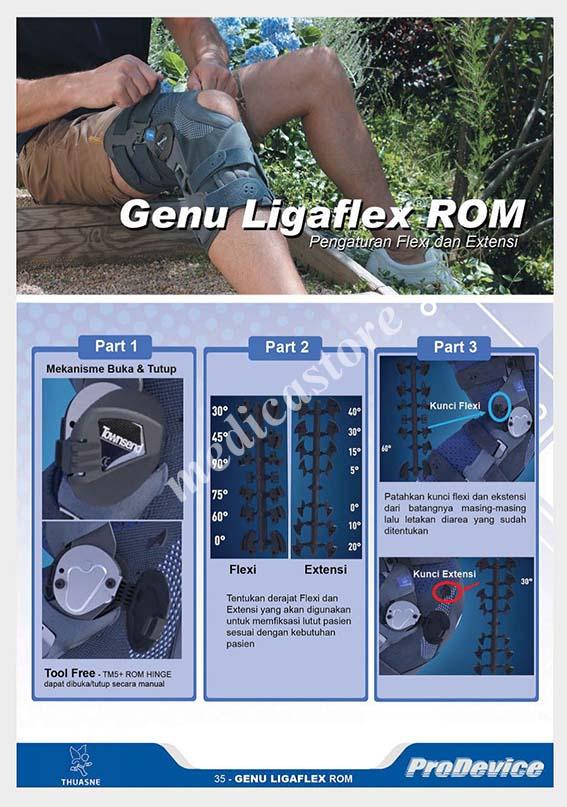 Pengaturan Genu Ligaflex ROM